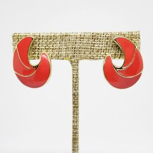 ✨VTG✨ 80s Enamel Earrings